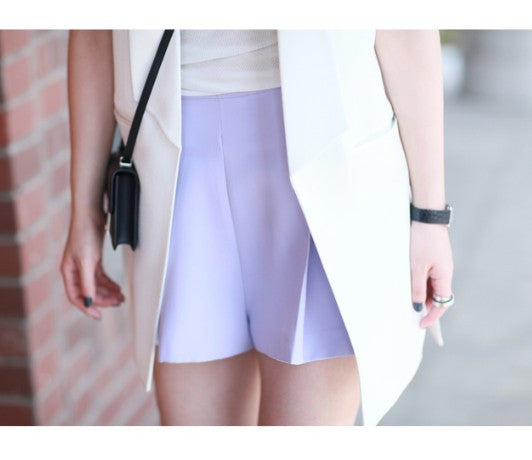 Eliza Lilac Pleat Skort - HELLO PARRY Australian Fashion Label