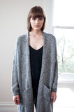 Elle Tweed Print Charcoal Coatigan - HELLO PARRY Australian Fashion Label
