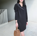 Elsie Asymmetrical Piped Tuxedo Dress - HELLO PARRY Australian Fashion Label