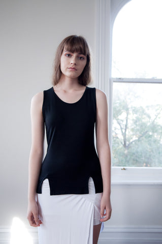 Eva Double Split Singlet - HELLO PARRY Australian Fashion Label