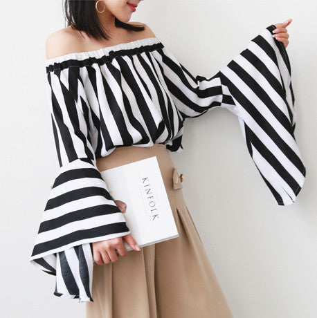 Fabian Off Shoulder Stripe Top