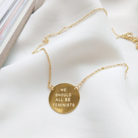 Feminist Gold Chain Necklace