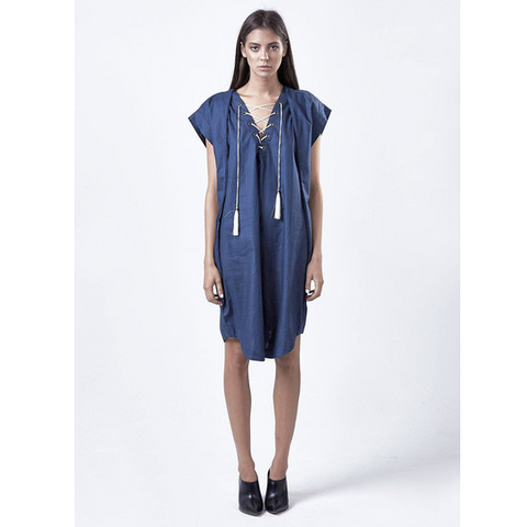 Forget Me Not Lace up Dress - HELLO PARRY Australian Fashion Label