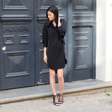 Gisella Black Relaxed Tunic Dress - HELLO PARRY Australian Fashion Label