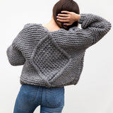 Nia Cable Hand Knitted Cardigan