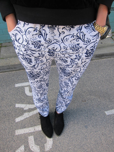 Zolita China Blue Print Pants