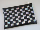 Luna Holographic Checkered Clutch - HELLO PARRY Australian Fashion Label