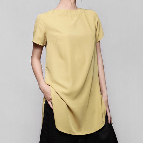 Yellow Luna Tunic Top