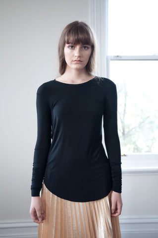 Isla Basic Long Sleeve Top - HELLO PARRY Australian Fashion Label