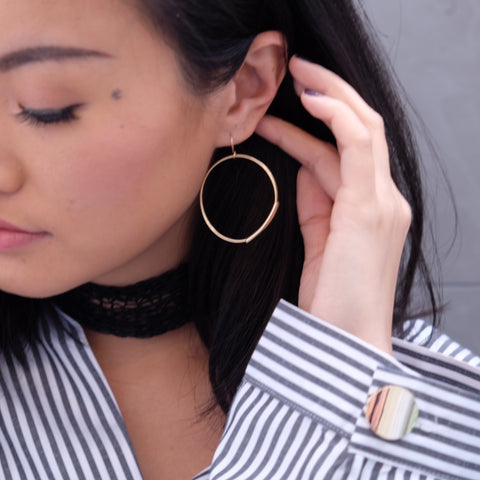 Joveen Drop Hoop Earrings