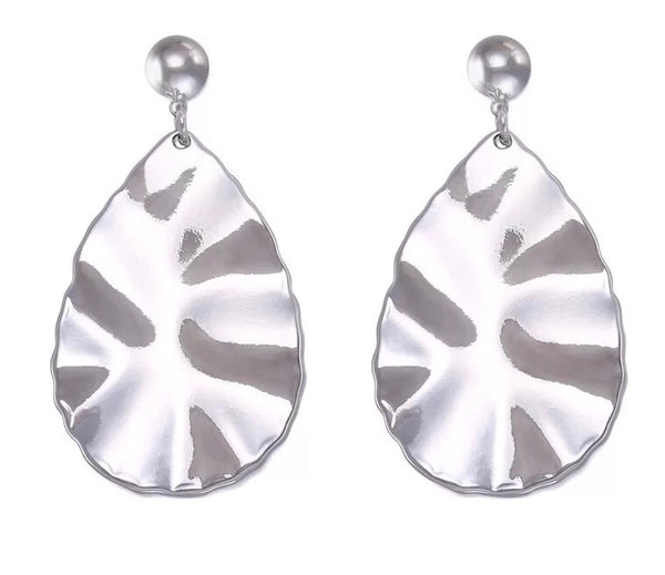 ANGELA STATEMENT EARRINGS-SILVER