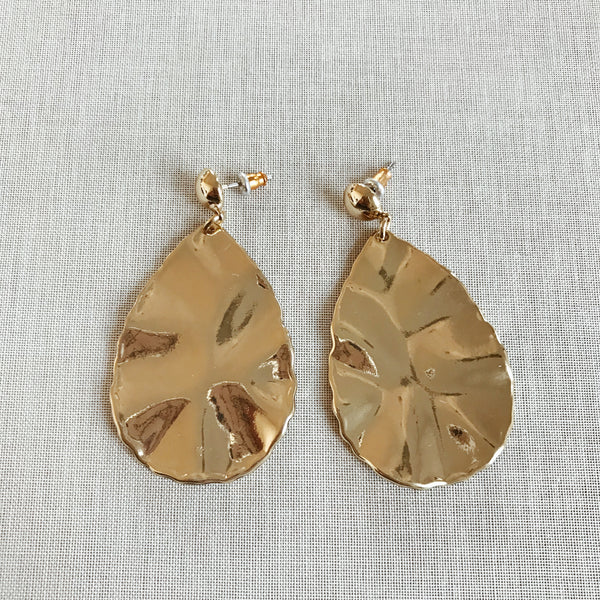 ANGELA STATEMENT EARRINGS-GOLD