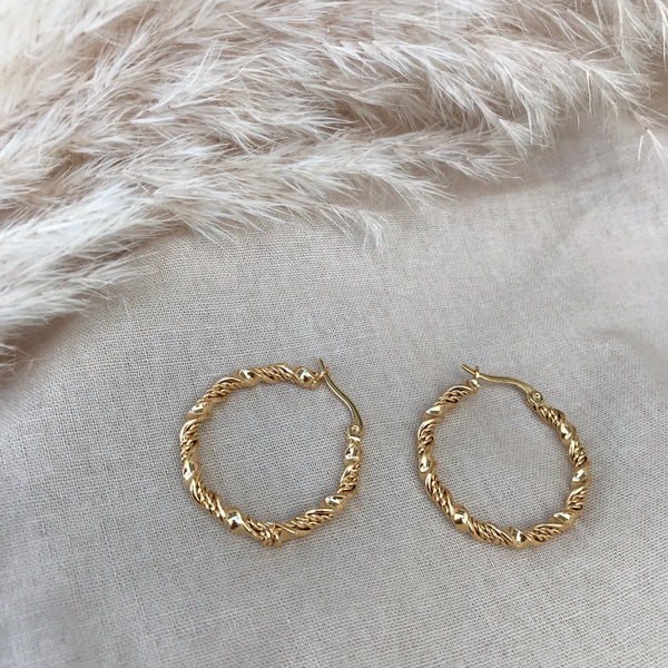 Annelise Twisted Hoops