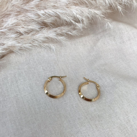Tori Small Ridged Hoops