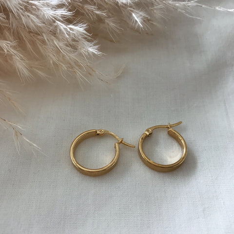 Milly Gold Band Hoops