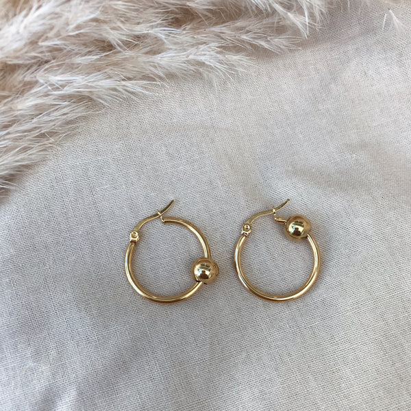 Cilla Gold Ball Hoops