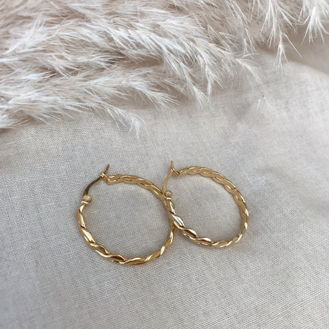 Saskia Plaited Hoops