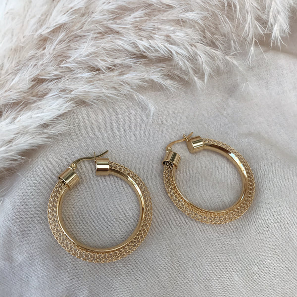 Paris Large Mesh Hoops