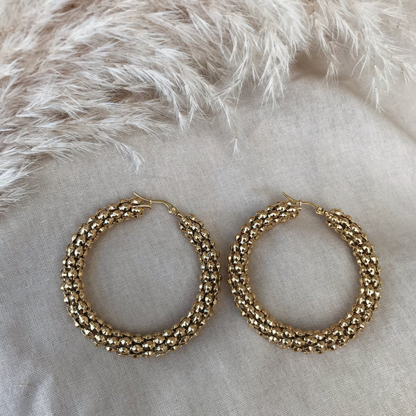 Florence XL Pebbled Hoops