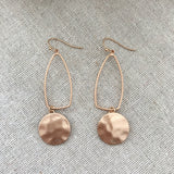 Collins Statement Earrings - Rose Gold