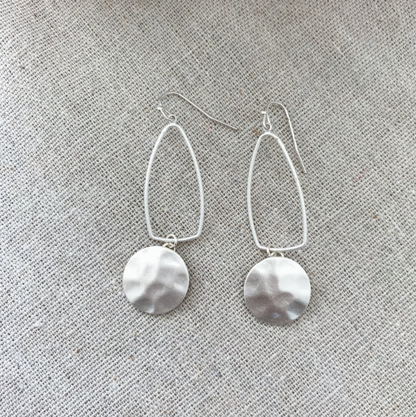 Collins Statement Earrings - Silver