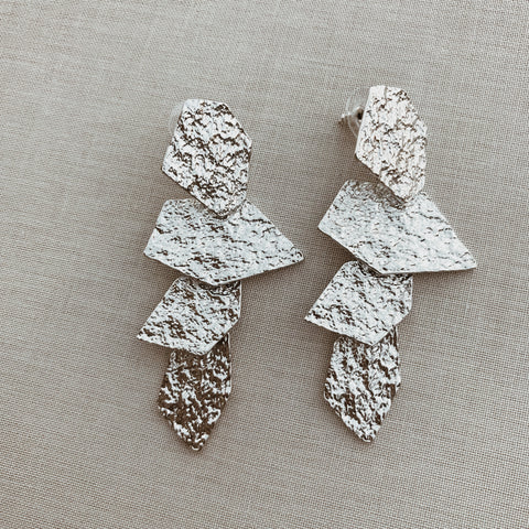 RICARDA STATEMENT EARRINGS- SILVER