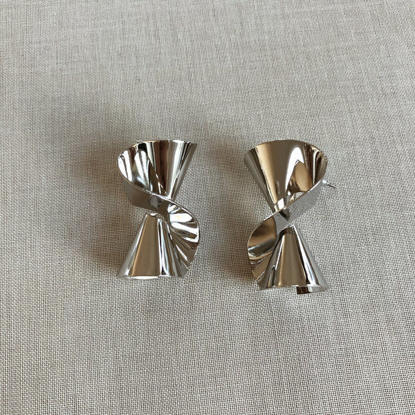 JEAN-MARIE STATEMENT EARRINGS- SILVER