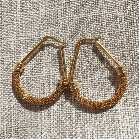 Tia Mesh Hoops - Gold