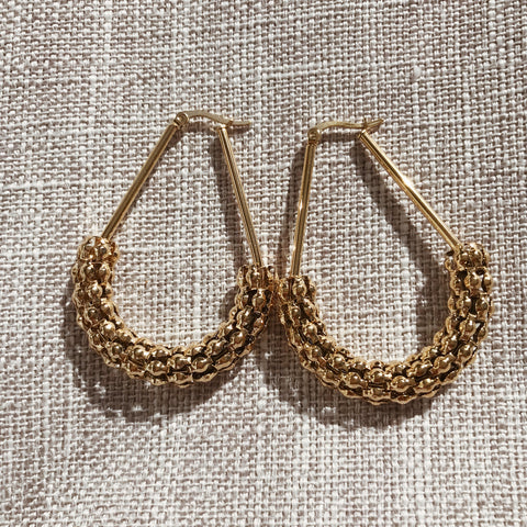 Thea Pebble Hoops - Gold