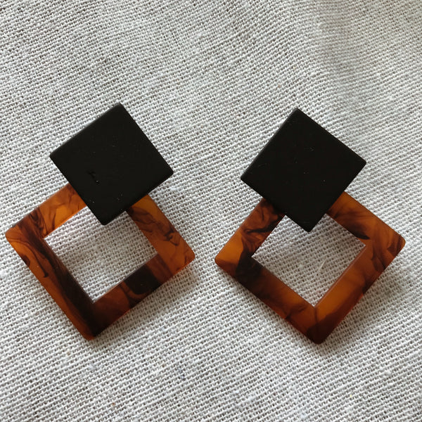 Rianne Amber Diamond Earrings