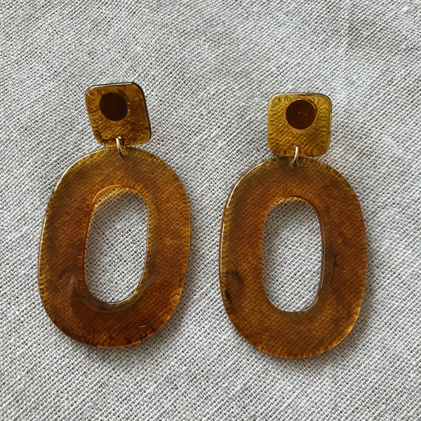 Tululah Amber Statement Earrings
