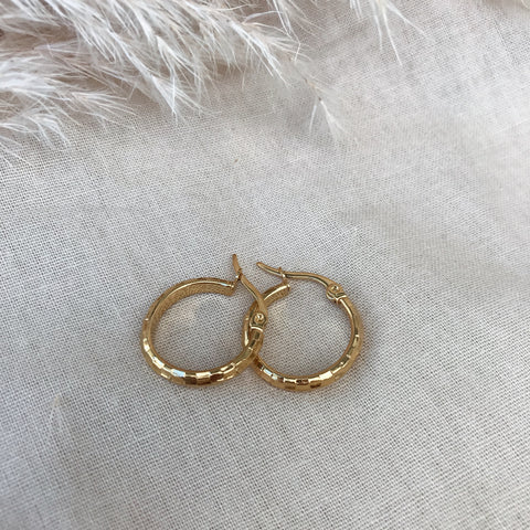 Zara Check Detail Hoops