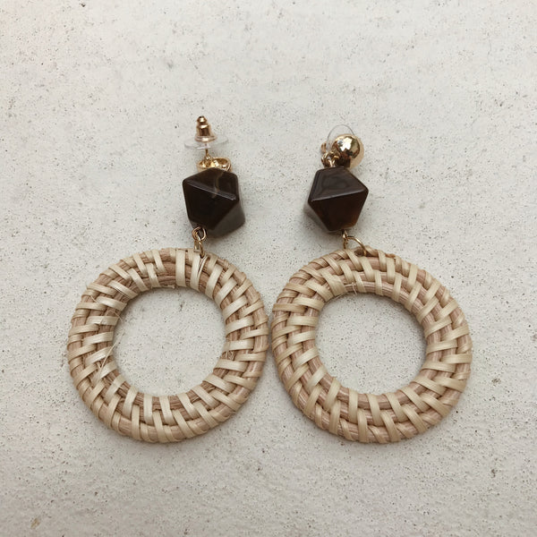Mercede Hollow Circle Earrings