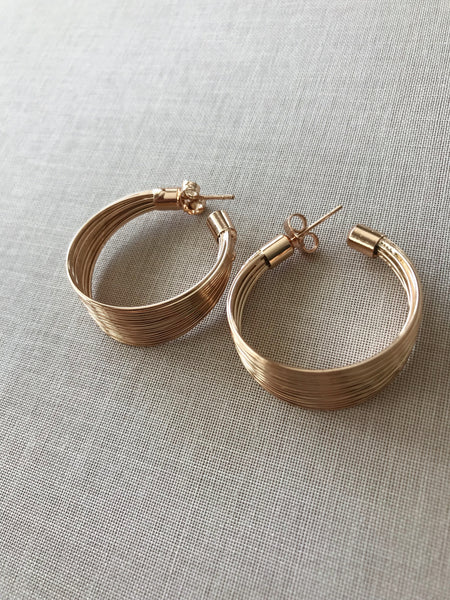 Prudence Slinky Hoop Earrings