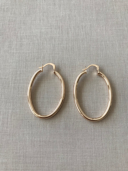 Blaire Smooth Hoop Earrings