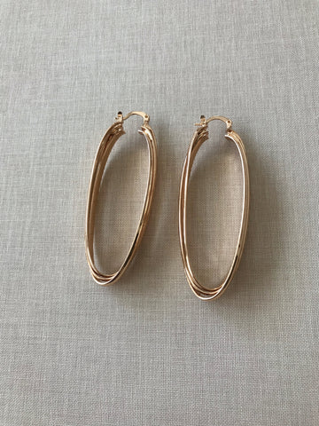 Martina Crossed Hoop Earrings