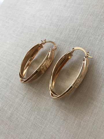 Shania Twisted Hoop Earrings