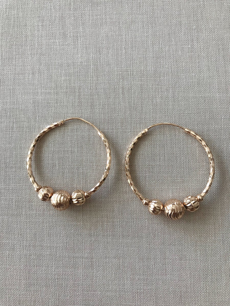 Mischa Textured Ball Hoop Earrings