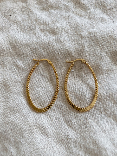 Jillian Textured Hoops