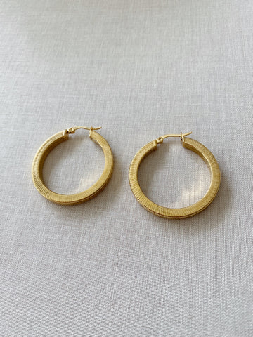 Lia Textured Hoops