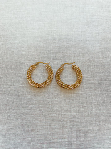 Lexi Textured Hoops