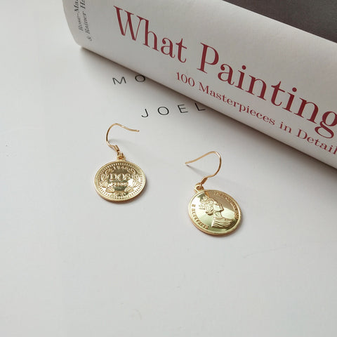 Elizabeth Isle Coin Earrings
