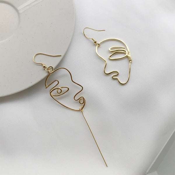 Sofiane Art Line Earrings