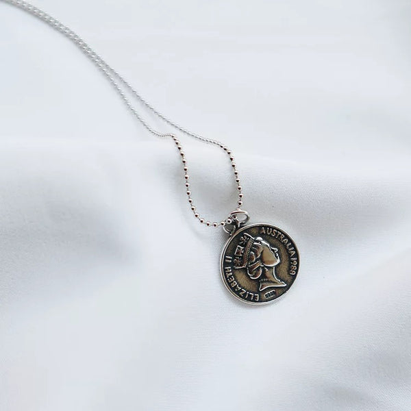 Elizabeth Coin Necklace - 65cm