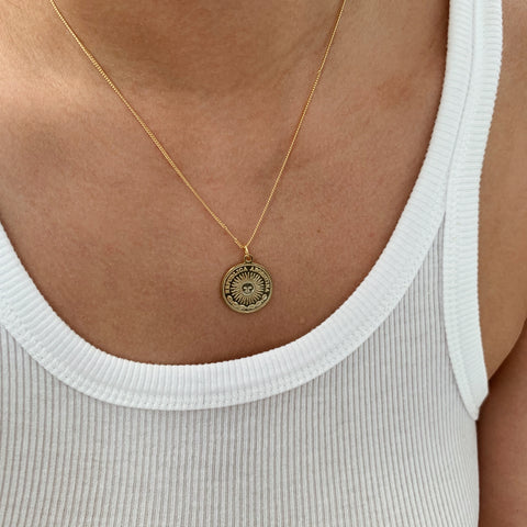 Peso Coin Pendant Necklace