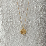 Rose Circle Pendant Necklace