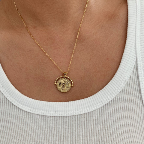 Goddess Pendant 14K Necklace