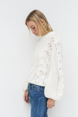 LORA MOHAIR & WOOL SWEATER