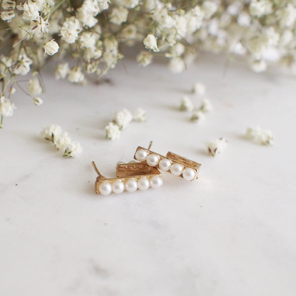 Lorelei Pearl Cuff Studs - HELLO PARRY Australian Fashion Label