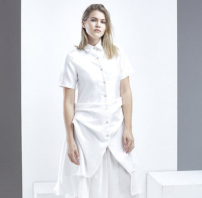 Layered Drapery Shirt - HELLO PARRY Australian Fashion Label